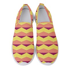 Background Colorful Chevron Women s Slip On Sneakers by HermanTelo
