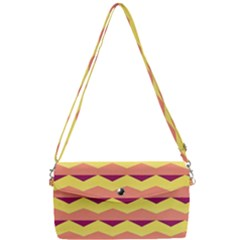 Background Colorful Chevron Removable Strap Clutch Bag by HermanTelo