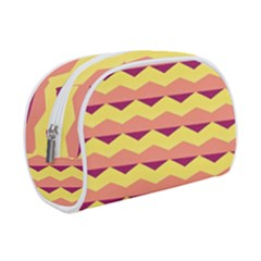Background Colorful Chevron Makeup Case (small)