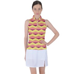 Background Colorful Chevron Women?¯s Sleeveless Polo