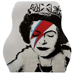 Banksy Graffiti Uk England God Save The Queen Elisabeth With David Bowie Rockband Face Makeup Ziggy Stardust Car Seat Velour Cushion  by snek