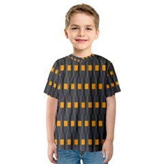 Pattern Illustrations Plaid Kids  Sport Mesh Tee