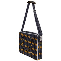 Pattern Illustrations Plaid Cross Body Office Bag