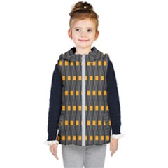Pattern Illustrations Plaid Kids  Hooded Puffer Vest by HermanTelo