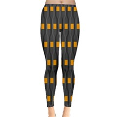 Pattern Illustrations Plaid Inside Out Leggings