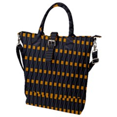 Pattern Illustrations Plaid Buckle Top Tote Bag