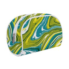 Green And Yellow Vivid Marble Pattern Makeup Case (small) by goljakoff