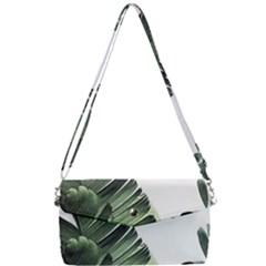 Green Banana Leaves Removable Strap Clutch Bag