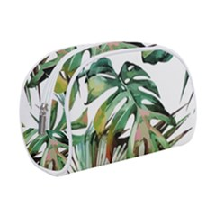 Watercolor Tropical Leaves Makeup Case (small) by goljakoff