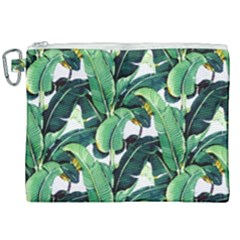 Green Banana Leaves Canvas Cosmetic Bag (xxl) by goljakoff