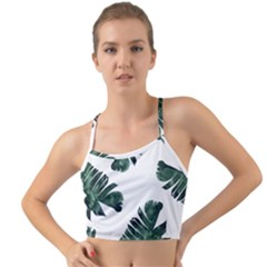 Green Banana Leaves Mini Tank Bikini Top