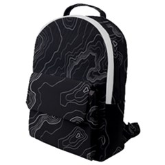 Black Topographyc Map Flap Pocket Backpack (small) by goljakoff