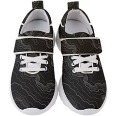 Topography Map Kids  Velcro Strap Shoes by goljakoff