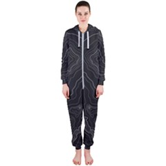 Topography Map Hooded Jumpsuit (ladies)  by goljakoff