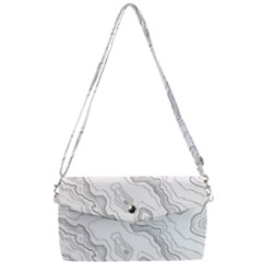 Topography Map Removable Strap Clutch Bag