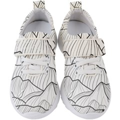 Mountain Range Kids  Velcro Strap Shoes by goljakoff