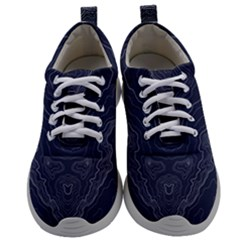 Navy Topography Map Mens Athletic Shoes by goljakoff