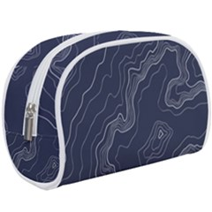 Navy Topography Map Makeup Case (large)