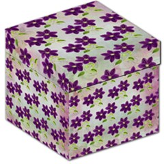 Purple Flower Storage Stool 12