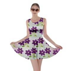 Purple Flower Skater Dress