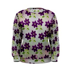 Purple Flower Women s Sweatshirt