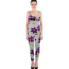 Purple Flower One Piece Catsuit