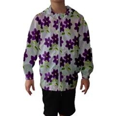 Purple Flower Kids  Hooded Windbreaker