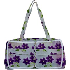 Purple Flower Multi Function Bag