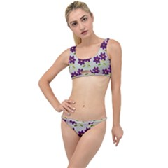 Purple Flower The Little Details Bikini Set