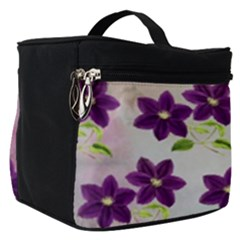 Purple Flower Make Up Travel Bag (small)