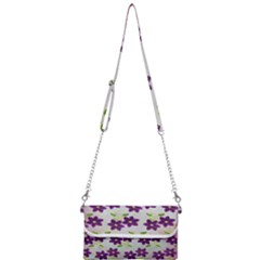 Purple Flower Mini Crossbody Handbag