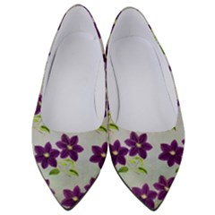 Purple Flower Women s Low Heels