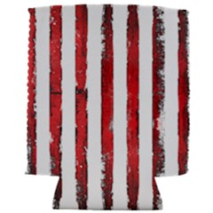 Red Grunge Stripes Can Holder