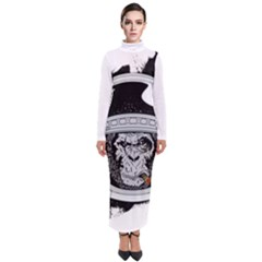 Spacemonkey Turtleneck Maxi Dress