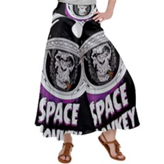 Retro Spacemonkey Satin Palazzo Pants