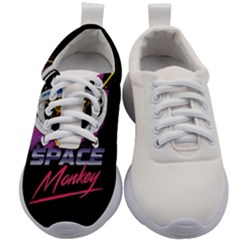 Spacemonkey Retro Wave Kids Athletic Shoes by goljakoff