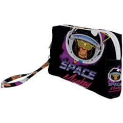 Spacemonkey New Retro Wave Wristlet Pouch Bag (small) by goljakoff