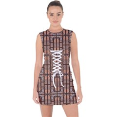 Ab 71 Lace Up Front Bodycon Dress