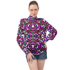 Ab 72 High Neck Long Sleeve Chiffon Top by ArtworkByPatrick