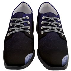 Blue Space Women Heeled Oxford Shoes