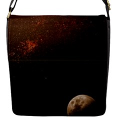 Orange Space Moon Removable Flap Cover (s)