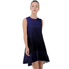 Blue Space Frill Swing Dress by goljakoff