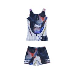 Paint Skull Kids  Boyleg Swimsuit