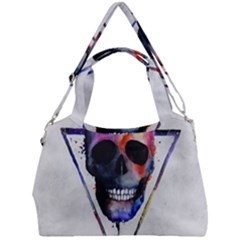 Paint Skull Double Compartment Shoulder Bag by goljakoff