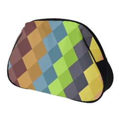 Retro Rhombs Full Print Accessory Pouch (small) by goljakoff