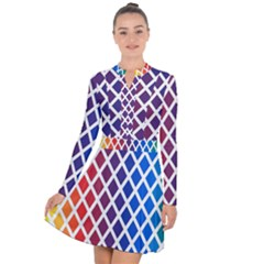Colorful Rhombs Long Sleeve Panel Dress by goljakoff