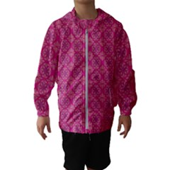 Background Texture Pattern Mandala Kids  Hooded Windbreaker