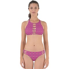 Background Texture Pattern Mandala Perfectly Cut Out Bikini Set