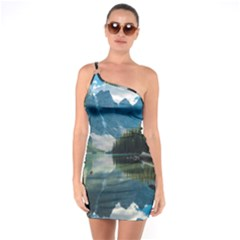 Nature One Soulder Bodycon Dress by ArtworkByPatrick