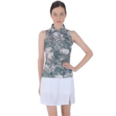 Beauty Floral Scene Photo Women's Sleeveless Polo by dflcprintsclothing